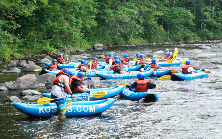 White Water Rafting Wisconsin - Kosir's Rapid Rafts & Campground
